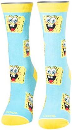 Cool Socks Women s Nickelodeon SpongeBob Block Crew Cartoons Fun Dress product image