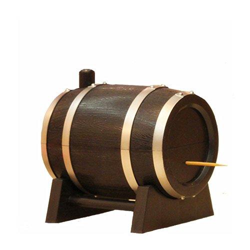 Cikuso Barril de Vino Estilo Caja de palillo de Dientes automatica de plastico Contenedor de palillo contenedor Dispensador de palillo de Dientes Color Aleatorio