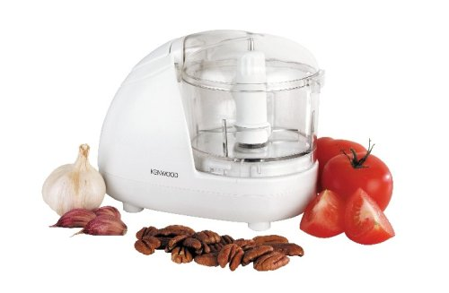Kenwood Mini Chopper, 0.35 Litre Dishwasher Safe Bowl, 2 Speeds, Rubber Feet for Food Chopper Stability, 300 W, CH180A, White
