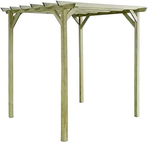 Toldo de madera al aire libre pérgola cenador cenador 2x2x2 m,Green