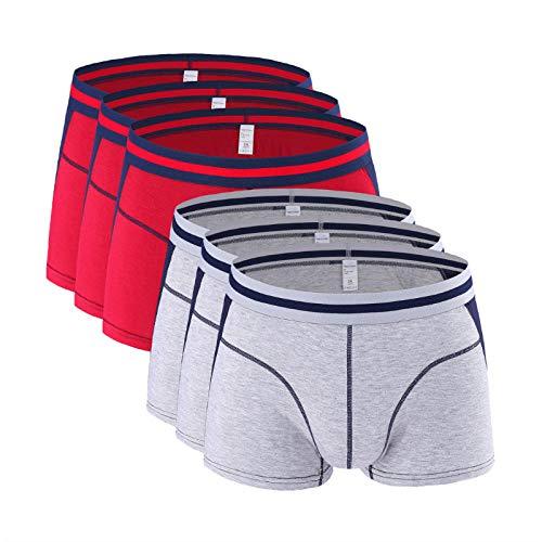 HHSW Calzoncillos Masculinos Grande Modal Modal Transpletle Color Sexy Boxershorts Ballge Bulge Pouce Drop (6 De Paquete)-A12_3XL