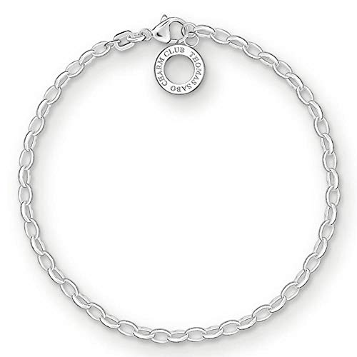 Thomas Sabo Damen Charm-Armband Charm Club 925 Sterling Silber X0163-001-12