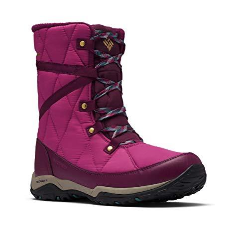 Columbia Women's CASCARA Omni-Heat Snow Boot, Dark Fuchsia/River Blue, 7.5