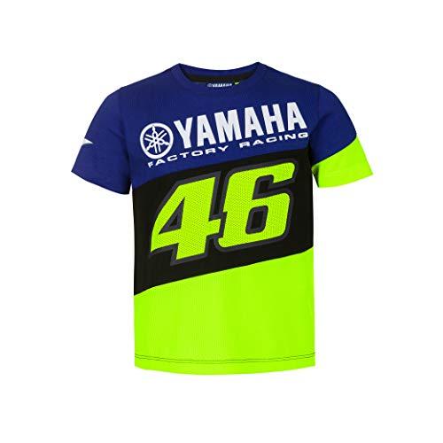 Valentino Rot Yamaha Dual T-Shirt Kinder Royal Blue 7/8