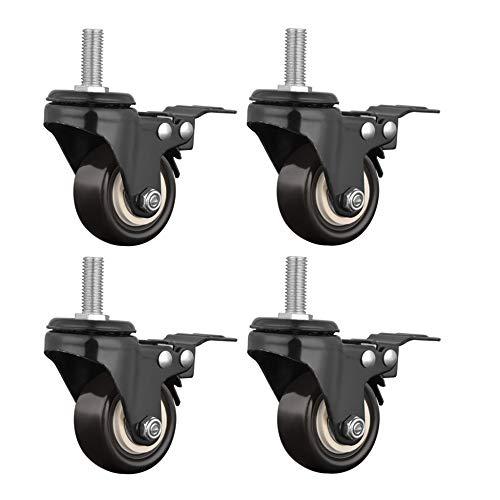 potente para casa Ruedas para muebles YJDQJL, 4 ruedas para sillas de oficina pequeñas …
