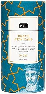 P & T Brave New Earl, Loser Ganzblatt Bio-Schwarztee Master Blend, Schwarz- und Grünteemischung mit Bergamotte, Deko-Dose 90g / 3.2oz