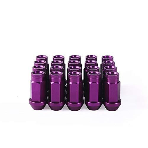 Shop-PEJ Radmuttern 20 Stück geschmiedete 7075-T6 Aluminium Radmuttern Länge 50mm Radmuttern for Hon-da Civic Autotechnik Auto Radmuttern (Color : Purple, Size : M12x1.5)