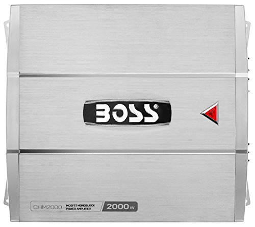 BOSS AUDIO CHM1500 CHAOS 1500-Watt Monoblock, Class A/B 2 to 8 Ohm Stable Monoblock Amplifier with Remote Subwoofer Level Control
