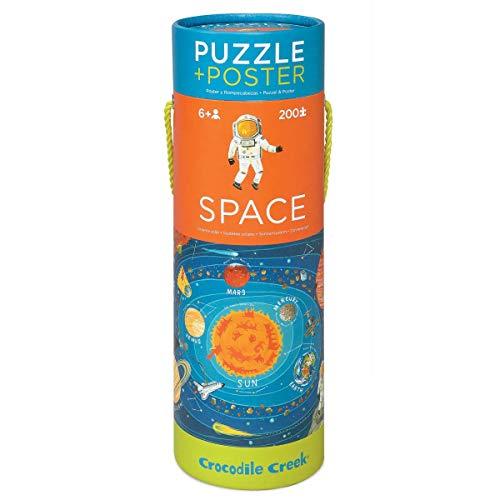 Crocodile Creek - Space, juego puzzle 200 piezas y póster
