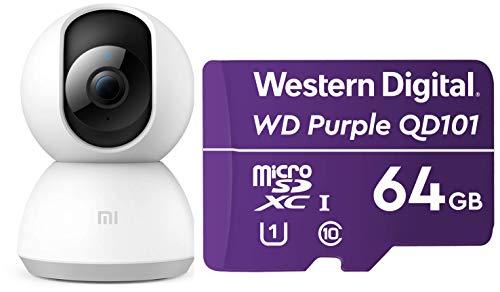 MI Wi-Fi 1080p Full HD 360° Viewing Area Smart Wireless Security Camera (White)
