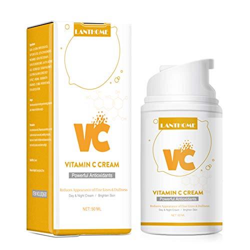 LANTHOME 50ml Crema de vitamina C Crema de día y noche Nutrición profunda Ilumina la piel