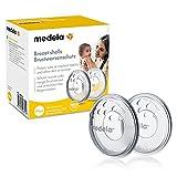 Medela Brustwarzenschutz – BPA-frei, aus weichem Silikon – Mit atmungsaktiven Lüftungsöffnungen – 2er-Set