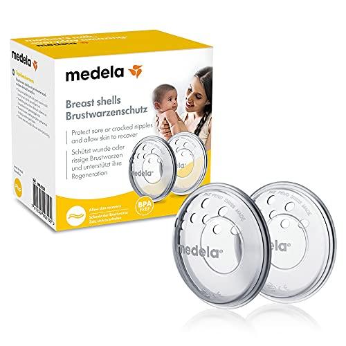 Medela Protectores de pezones - Sin BPA, hechos de silicona suave, con orificios de ventilación transpirables, incluye 2 copas