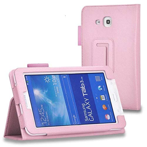 For Samsung Galaxy Tab3 Lite T110 T111 T113 T116 7 Inch Tablet PU Leather Folding Folio Case Support SM-T113NU Cases-Pink