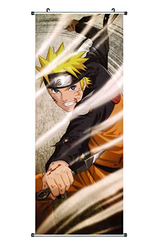 CoolChange Poster para enrollar /Kakemono de Naruto Hecho de paño, 100x40cm, Tema: Naruto y Kunai