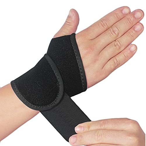 2 Pack Wrist Support Brace/Carpal Tunnel/Wrist Brace/Hand Support, Adjustable Wrist Support for Arthritis and Tendinitis, Joint Pain Relief (Black)