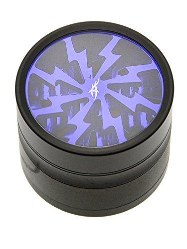 After Grow Thorinder Mini schwarz-blau - Kleiner Siebgrinder mit transparentem Deckel - 4 Teile, Durchmesser 5 cm - Head&Nature Smoke Shop