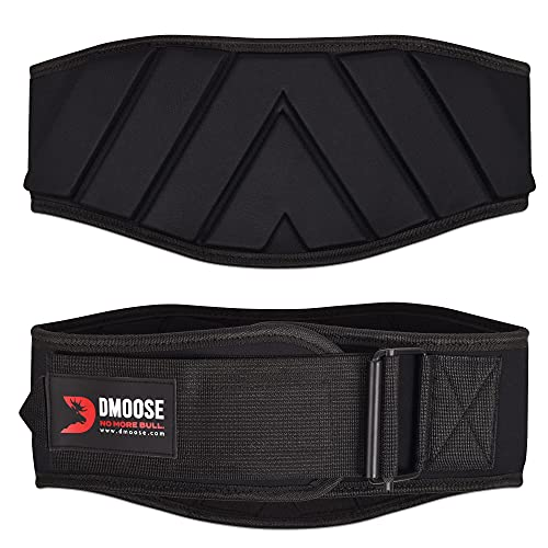 DMoose lifting belts 6 Inch Auto-Lock Breathable Weight Lifting Back Support, Workout Back Support for Lifting, Fitness, Cross Training and Powerlifting - Black Medium