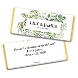 Wedding Candy Personalized Hershey's Chocolate Bar Favors with Gold Foil (36 Bars)