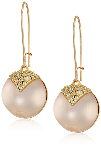 Alexis Bittar Crystal Encrusted Origami Inlay Dangling Sphere Kidney Wire Drop Earrings One Size