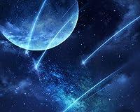数字で描くアクリル絵の具の色原稿月星雲ライト粒子フェンス絵の描画リビングルームアクリルユニークな子供ギフトリネン装飾アート カスタマイズ可能 40x50cmフレームなし