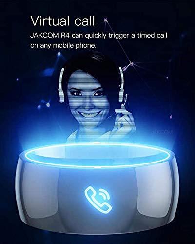 ZDY La Nouvelle R4 Intelligente Anneau Magique Wearable Finger NFC Appel virtuel, Compatible avec l iPhone iOS Android Smart Phone NFC IC Card Accessoires,10