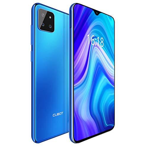 CUBOT X20 4G Android 9.0 Teléfono Movil Libre Pantalla 6,3' FHD+, AI Triple Cámara Trasera,Dual Sim,Face ID,Huella Dectilares 4GB RAM 64GB ROM, Octa-Core Batería 4000mAh (Azul)