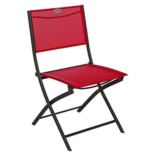Chaise pliante Modula Hesperide framboise/graphite