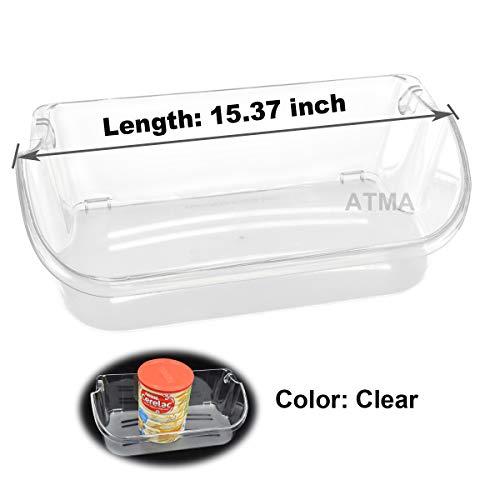 ATMA 240356402 Clear Refrigerator Door Bin Side Shelf For Frigidaire Kenmore Electrolux Refrigerator Top shelf - Replaces AP2549958 PS430122 240430312 240356416 240356407-Pack of 1