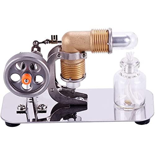 LKZL Motor Stirling, Mini Motor de Aire Caliente de Un Solo Volante Modelo, Juguete de Energía de Vapor de Aire A Alta Temperatura Kit de Educación de Experimentos de Física
