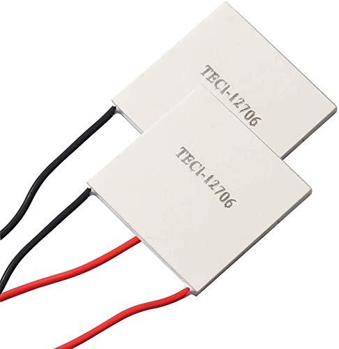 ZHITING 2 uds TEC1-12706 tabletas de refrigeración semiconductoras con disipador de Calor 6A 12 voltios 60 vatios Enfriador termoeléctrico módulo de Placa Peltier de refrigeración