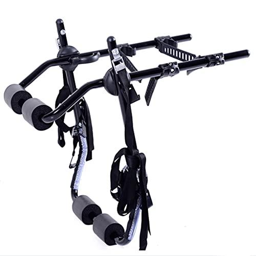 LZL Coche de Espalda Deluxe Black 2-Bike Tronco Mount Carrier de Bicicleta.(Compatible con la mayoría de los sedanes/hatchbacks/minivans y SUV.)