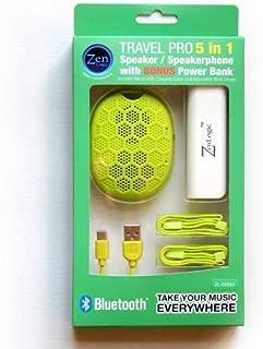 Zen Logic ZL-SMBG Bluetooth Speaker with Speakerphone Feature and Bonus Power Bank for Universal/SmartPhones - Retail Packaging - Green