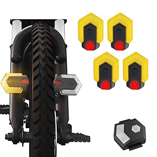 Leikance Fahrradblinker-Set, vorne und hinten, Sicherheitswarnlicht mit kabelloser Steuerung, wasserdicht, für Outdoor-Aktivitäten bei Nacht