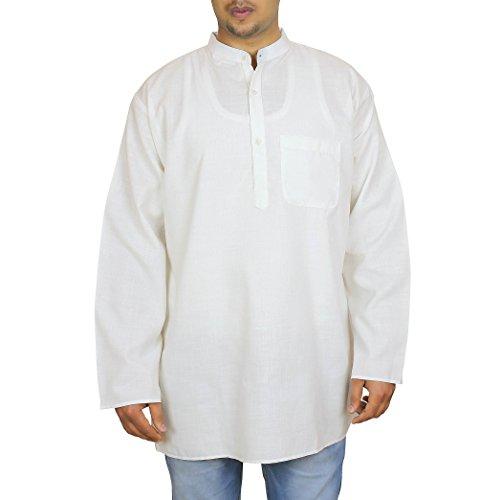 ShalinIndia -  Kurta - Uomo Bianco Large
