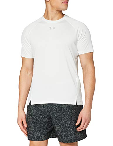 Under Armour Ua Qualifier T-Shirt Homme - Blanc (Onyx White/Onyx White/Reflective) - L