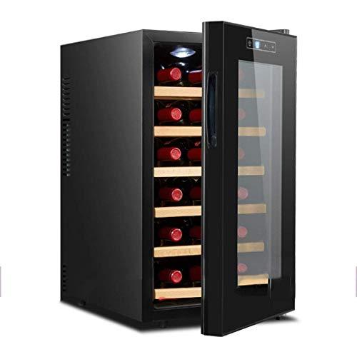Taoke Refrigeratori Vino frigoriferi - Frigo Vino - Libera Installazione Frigo for Vino, Touch Screen, LED, Schermo tattile, Low Energy A, Nero 8bayfa (Color : Solid Wood)