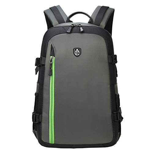 WOCTP DSLR-Fototasche Wasserdichter Rucksack für Kamera mit Regenschutz Rucksack Light Concept für Canon Nikon Fuji und andere Laptop-Pakete für Frauen-Lightgreen