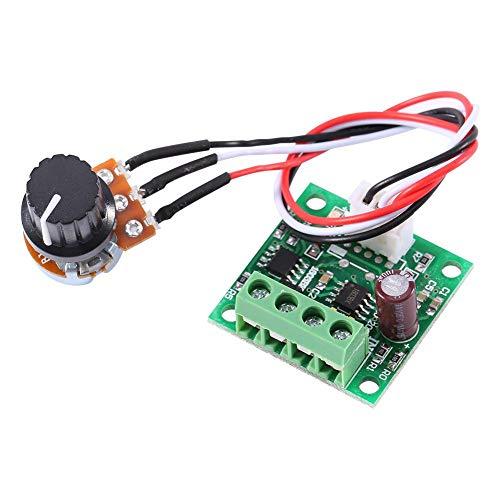 FTVOGUE DC Motor Controller Bajo voltaje DC 1.8V a 15V 2A Mini PWM Módulo de control del regulador de velocidad del motor
