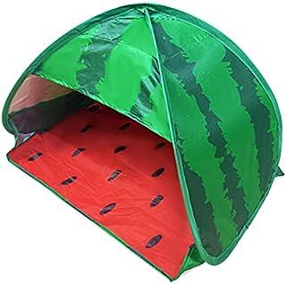 Strand solskydd tält bärbar hopfällbar vindtät husdjursskydd tält solblockering håll värmen vattenmelon mini oxfordtyg tält
