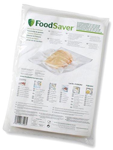 FoodSaver 48 Sacchetti Termosigillabili per Macchina per Sottovuoto, senza BPA, 20 x 29 cm