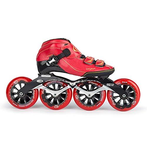Eisschnelllauf Schuhe Carbon-Faser-Thermoplastisches Skates Professionelle Männer und Frauen Erwachsene Kinder Roller Schuhe, 30 bis 44 Yards (Farbe: # 2, Größe: EU 32 / US 1.5 / UK 13,5 / JP 21cm) do