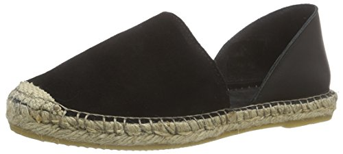 PIECES Damen PSJASHA Leather Espadrillos BLK Espadrilles, Schwarz (Black), 40