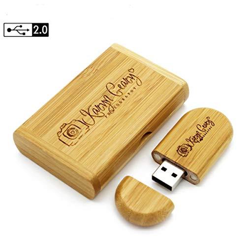 Pendrive de Madeira Personalizado 4 Gb Usb 2.0 com caixa para Fotógrafos, Filmakers, e Uso pessoal - GRAVAMOS SUA LOGO OU NOMES.