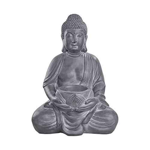 Butlers Buddha Statue mit Kerzenhalter H 68 cm