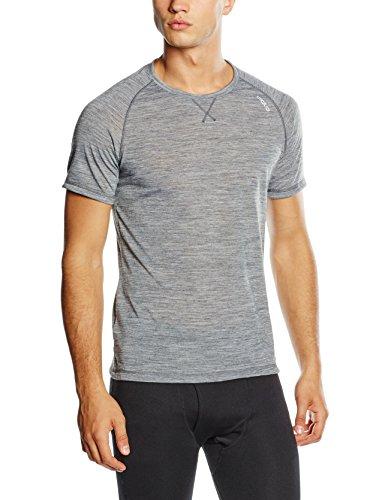 Odlo Herren Unterhemd Shirt s/s crew neck REVOLUTION TW LIGHT, grey melange, S