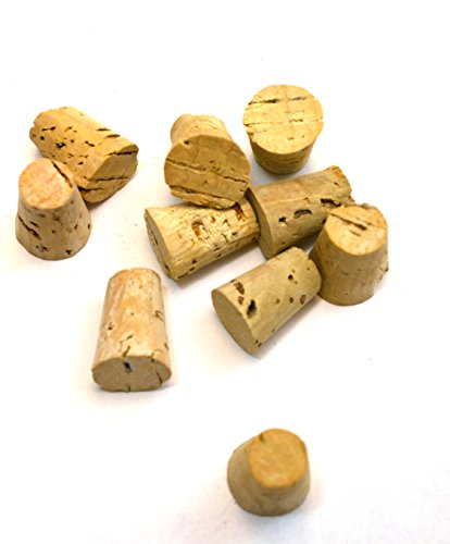 Eisco Labs Cork Stopper - Bark, Size no. 3, Bottom 10mm, top 14mm, Length 19mm, pk of 10