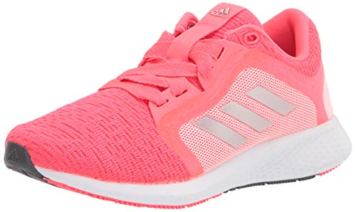 adidas womens Edge Lux 4 Running Shoe, Signal Pink/Silver/White, 7.5 US
