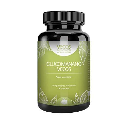 GLUCOMANANO VECOS 90 Cápsulas con Manzanilla - 3000 mg.- Ayuda a adelgazar e inhibir el apetito 100% NATURAL. Efecto saciante.