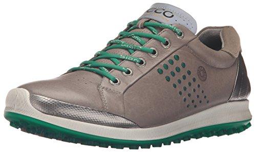 ECCO Men's Golf BIOM Hybrid 2 Chaussures de Golf pour Homme, Homme, Gris Chaud/Vert, 46 EU